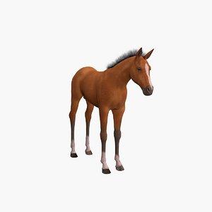 3D model millennium horse