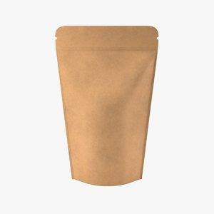 pouch paper standup 3D
