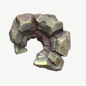 3D holey meteorite