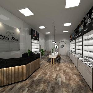 3D model glasses store