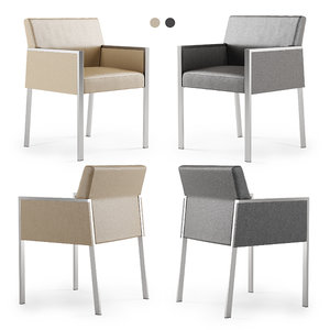 3D hbf corfino guest chair model
