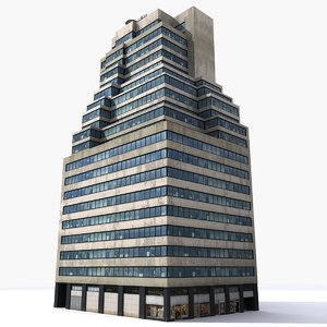 3D nyc building
