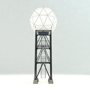 weather radar tower 3D