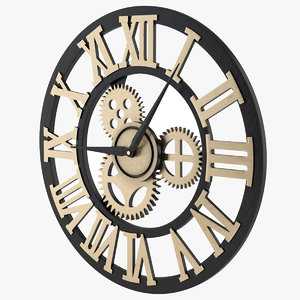 3D clock decor model