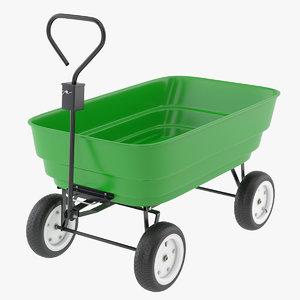 3D model garden cart
