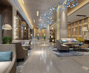 3D lobby interiors model
