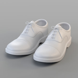 clasic oxford shoes 3D model