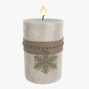 3D candle christmas diy