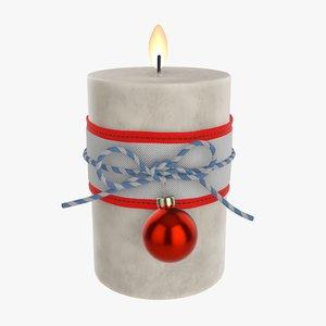 candle christmas diy 3D model