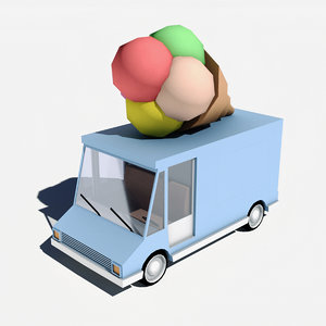 3D car ice cream model