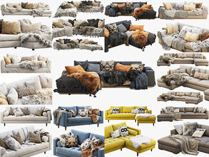 scandinavian sofas 10 fur 3D