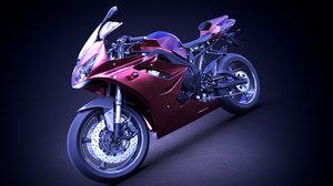 3D triumph daytona motorcycle