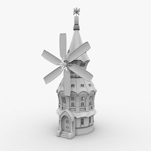 3D model windmill house