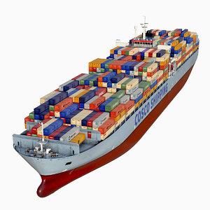 3D cosco container ship model