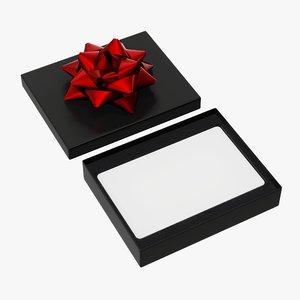 christmas box gift 3D model