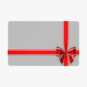 christmas gift ribbon 3D model