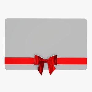 3D christmas gift ribbon