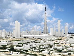 business bay dubai united 3D model