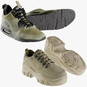 3D model realistic shoes 16 sneakers