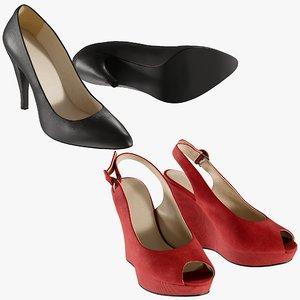 3D realistic heels 18 shoes