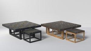 kintsugi set coffee table 3D model