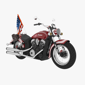 3D motorcycle indian scout model