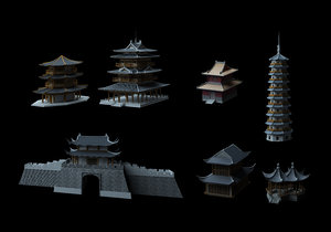 ancient chinese architecture 3D