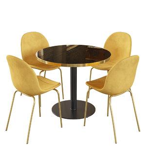 3D connubia cb4715-d120lq cocktail table