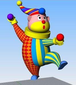 3D inflatable clown