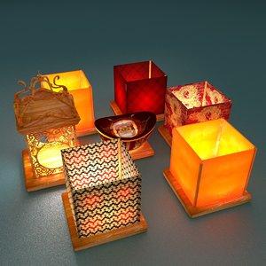 3D chinese lantern water
