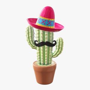 decorative cactus stylized model
