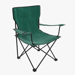 camp folding chair 3D