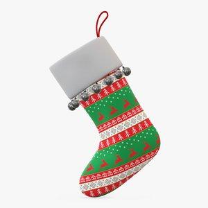 3D model christmas stocking gift