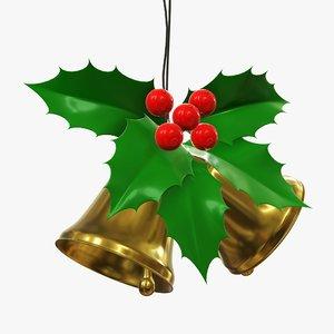 3D christmas bell gold