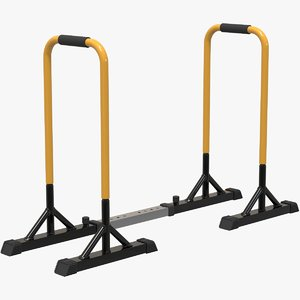 dip stands exercise parallel bar 3D model