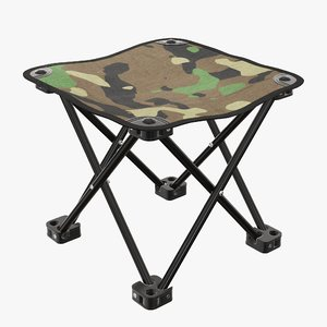 portable folding chair 3D model