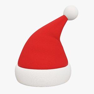 3D christmas hat claus model