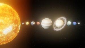 photorealistic solar 8k planets 3D