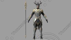 3D medieval soldier model