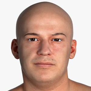 pbr marcus human head 3D model