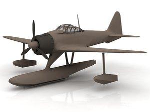3D model mitsubishi rufe a6m2-n 2