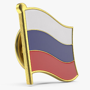 3D model russian federation lapel pin
