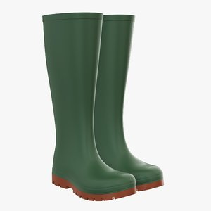 3D waterproof boots rubber