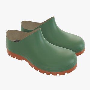 3D waterproof boots rubber model