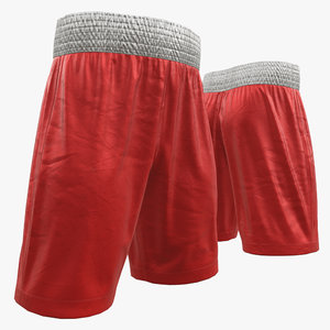 3D boxing shorts