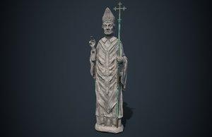 3D statue saint model