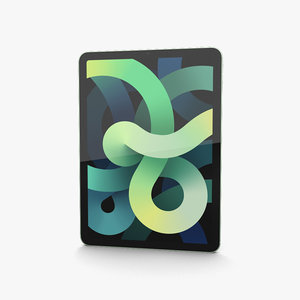3D apple 2020 ipad
