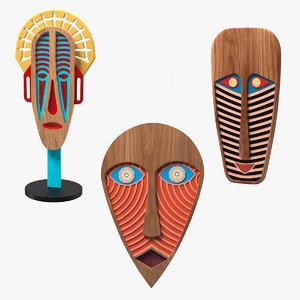 3D decorative design masks 2