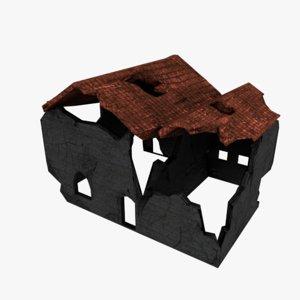 3D basic destroyed building