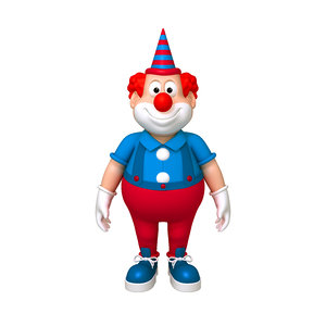 3D model clown cartoon